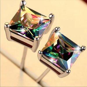 Silver Rainbow 🌈 Stud Earrings